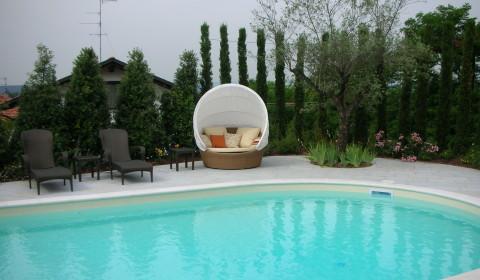Progettazione esterni, piscina , biella, torino, cossato